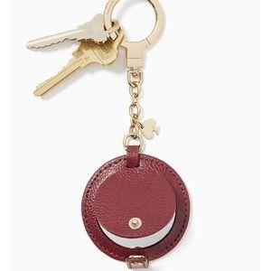 Kate Spade Circle Mirror Leather Keychain